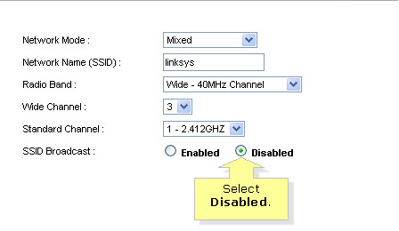 disable broadcasting