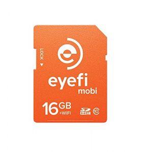 Eyefi Mobi 16GB Class 10 Wi-Fi SDHC Card with 90-day Eyefi Cloud Service