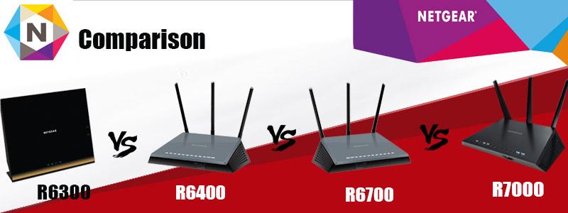 Netgear R6300v2 vs R6400 vs R6700 vs R7000