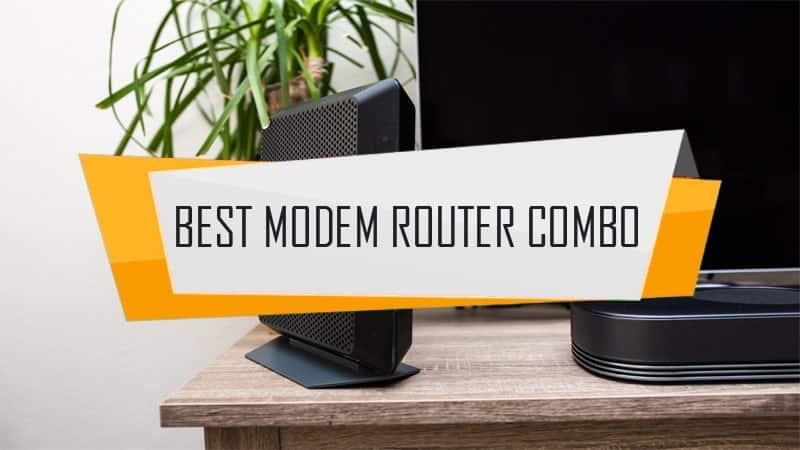 best cable modem router combo